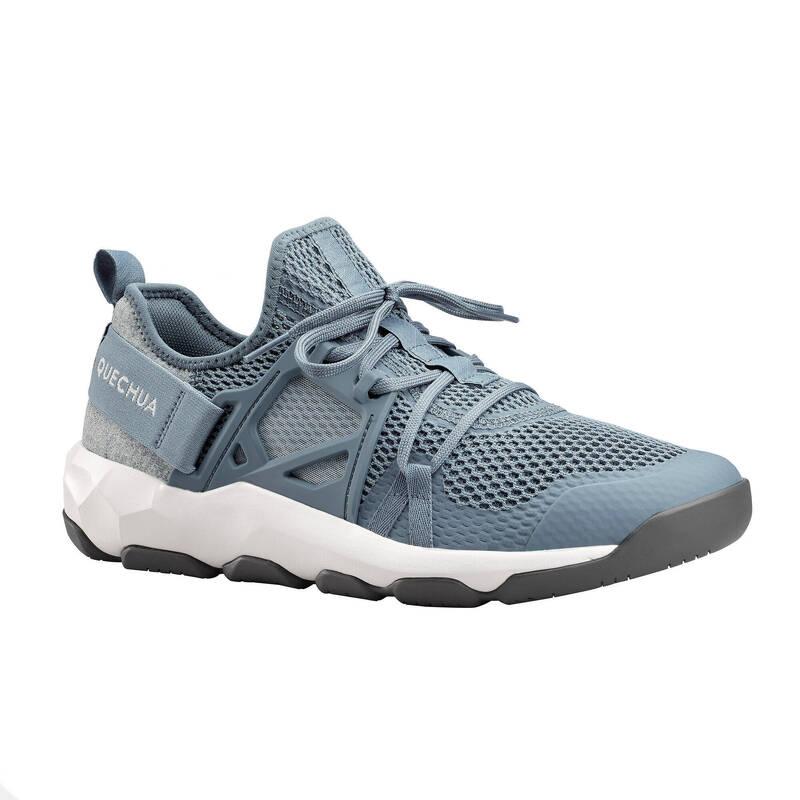 PÁNSKÉ SANDÁLY DO TEPLÉHO POČASÍ Turistika - Boty NH 500 Fresh modré QUECHUA - Turistická obuv