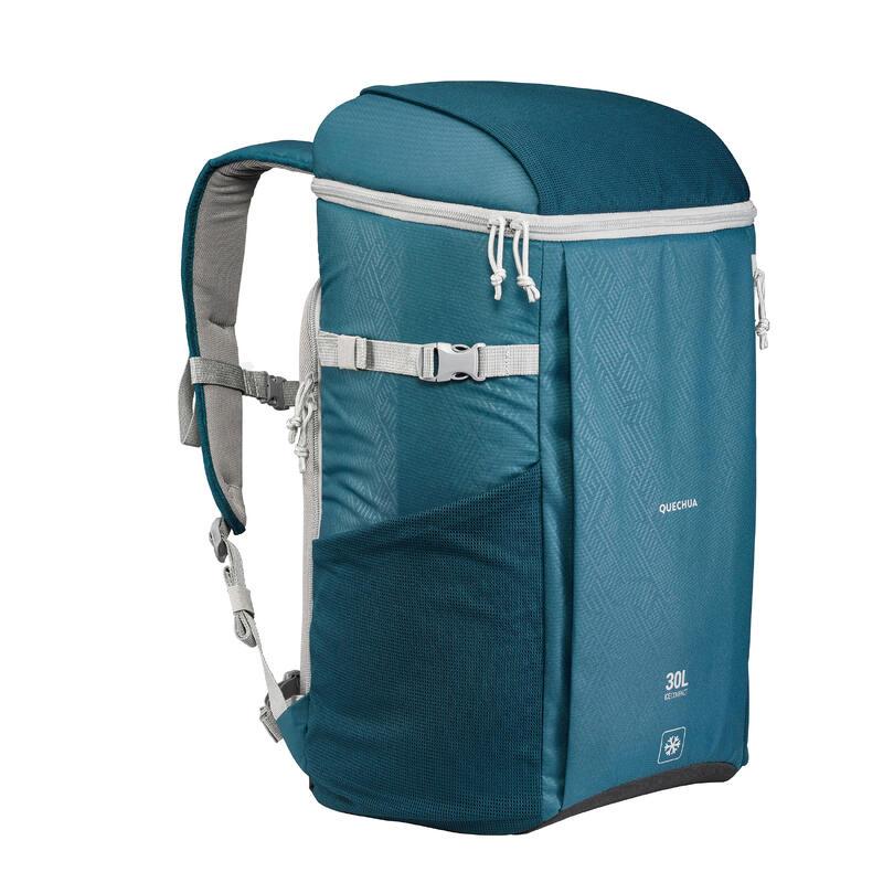 Mochila Nevera Isotérmica Camping y Senderismo Ice Compact 30 Litros Azul