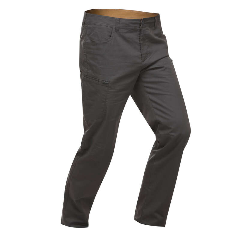 МУЖСКИЕ БРЮКИ / прогулки на природе Одежда - Брюки серые NH500 Regular QUECHUA - Брюки