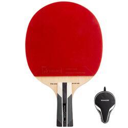 社團碳纖維桌球拍+球拍套TTR 590 5 Spin C-Pen
