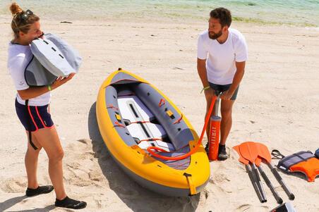 Bomba De Mano Doble Acción Para Kayak itiwit Naranja  2 X 2,6L