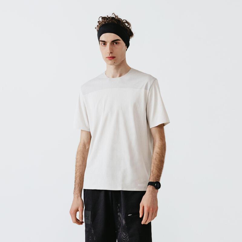 T-shirt running respirant et ventilé homme - Dry+ Breath beige lin