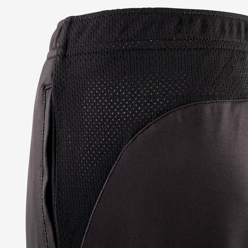 Boys' Breathable Synthetic Gym Shorts S500 - Black Print