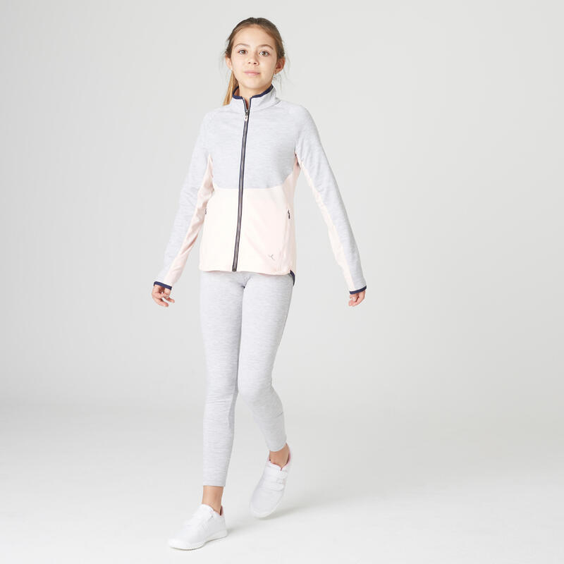 Trening S500 educație fizică călduros și respirant gri-roz fete