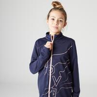 Survêtement enfant synthétique respirant - Gym'y Basique bleu avec imprimé