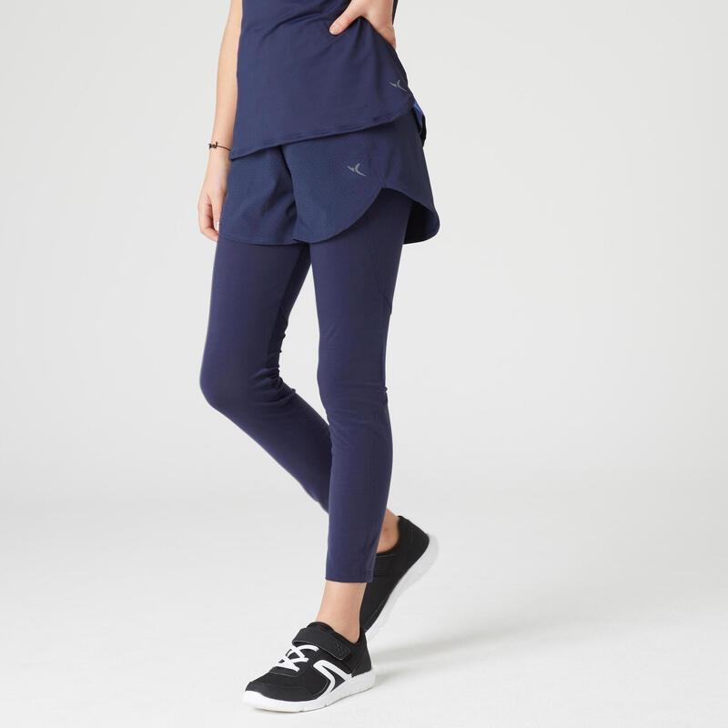 Short legging intégré navy fille