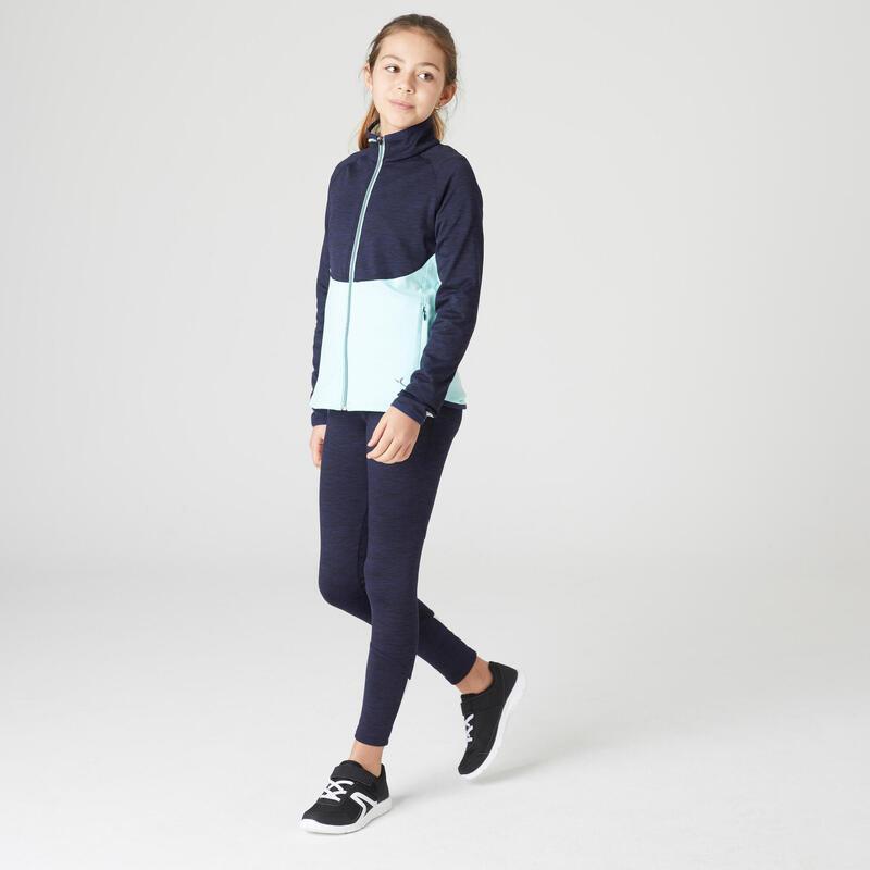 Trening S500 educație fizică călduros și respirant bleumarin-verde fete