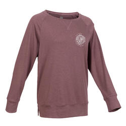 Stretchy Long-Sleeved Cotton Fitness T-Shirt - Brown