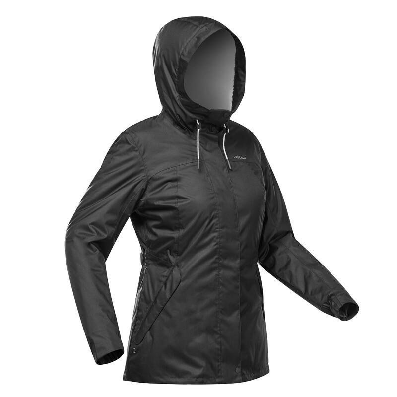 Abrigo Chaqueta Impermeable Mujer Montaña y Senderismo Quechua SH100 X-WARM