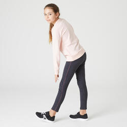 Leggings warm 100 Gym Kinder grau