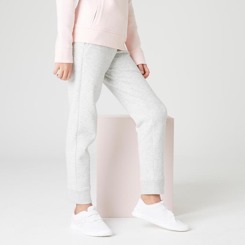 Pantalon de jogging poches zippées gris clair enfant