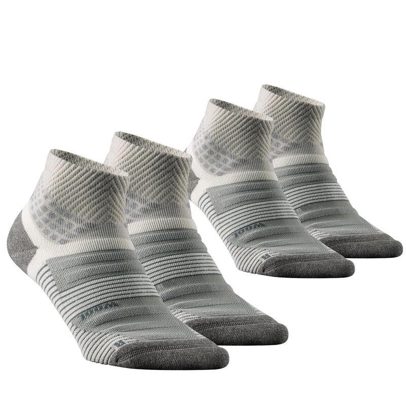 Chaussettes randonnée - MH900 Mid beige x2 paires