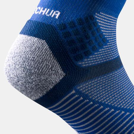Hiking socks - MH500 Mid x2 pairs Blue Grey