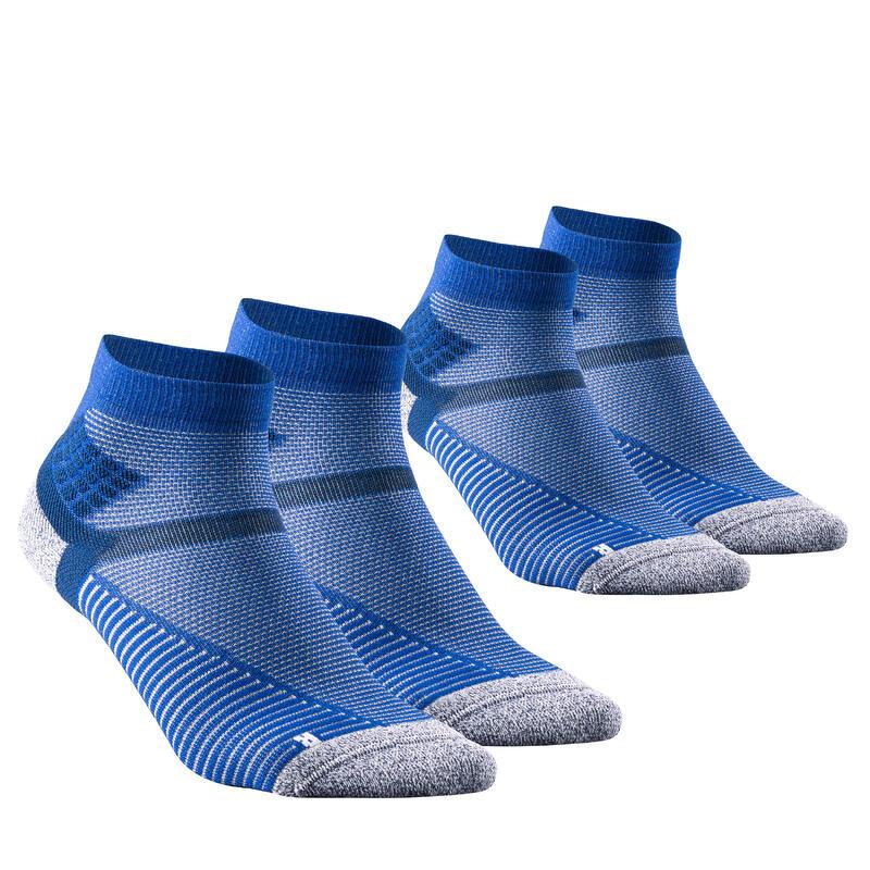 Chaussettes randonnée - MH500 Mid Bleu Gris x2 paires