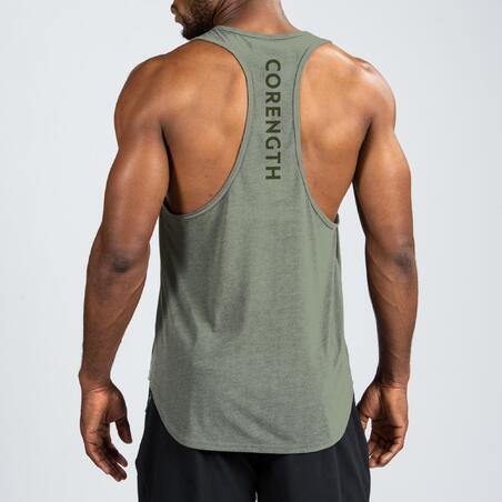 Weight training stringer tank top