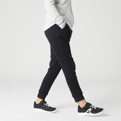 Pantaloni pesanti bambina gym 100 neri