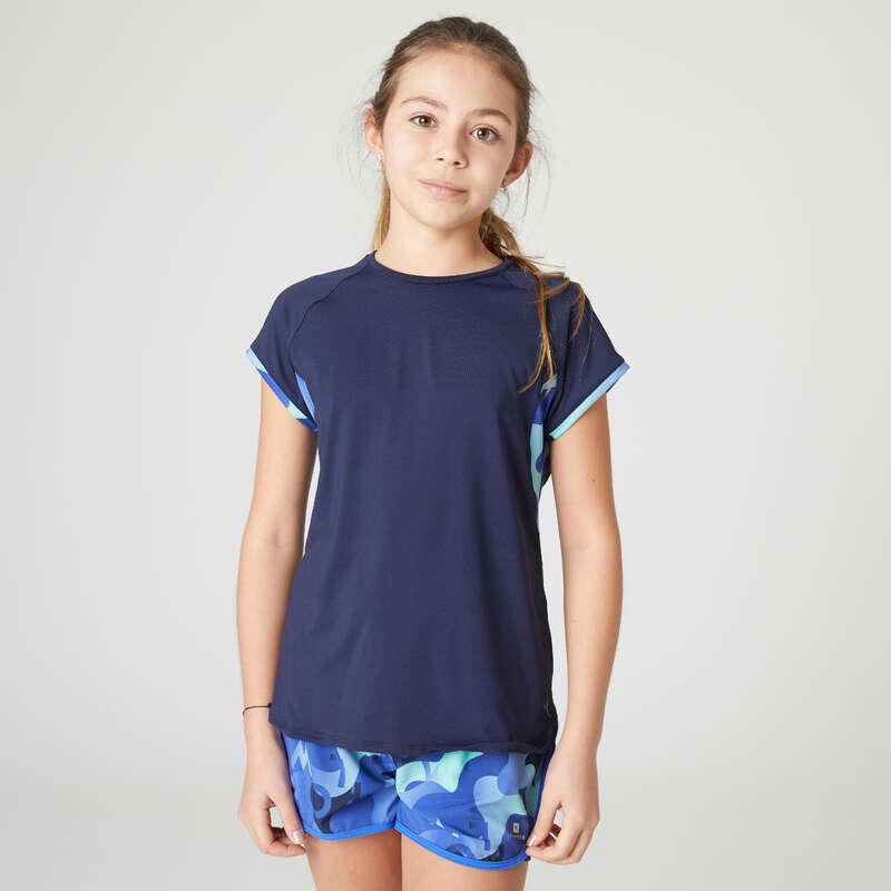 ŠPORTNA OBLAČILA ZA DEKLICE Šola se začenja - Plesna kratka majica DOMYOS - Otroške kratke majice za telovadbo
