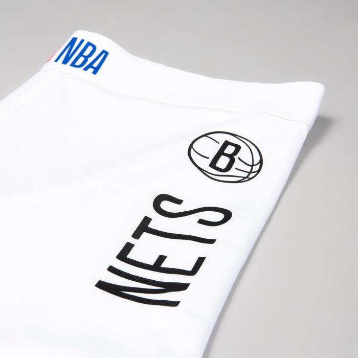 Boys'/Girls' Capri Basketball Leggings - White/NBA Brooklyn Nets