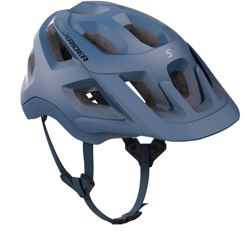 PŘILBY NA HORSKÁ KOLA Cyklistika - HELMA NA HORSKÉ KOLO 500 MODRÁ ROCKRIDER - Cyklistické vybavení