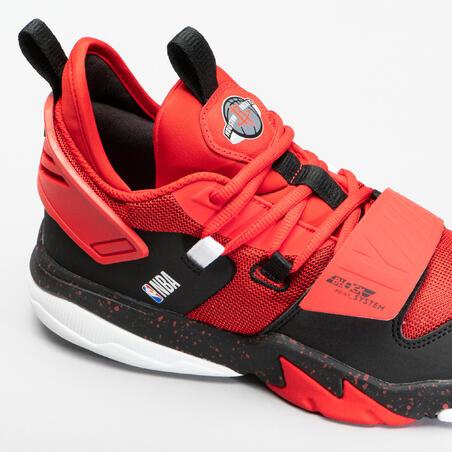 Kids' Basketball Shoes SS500M - Red NBA Houston Rockets