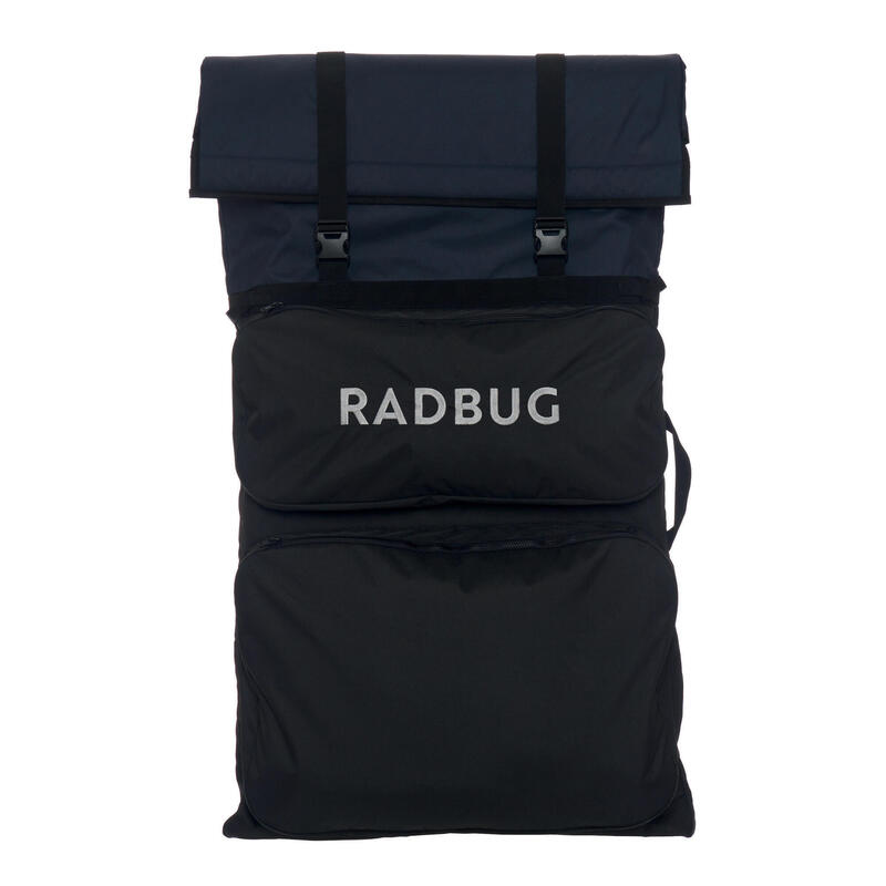 Dubbele bodyboard bag 500 daily bag zwart/blauw