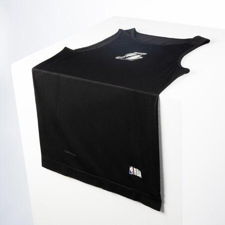 Men's Slim Fit Basketball Base Layer Jersey UT500 - Black/Los Angeles Lakers