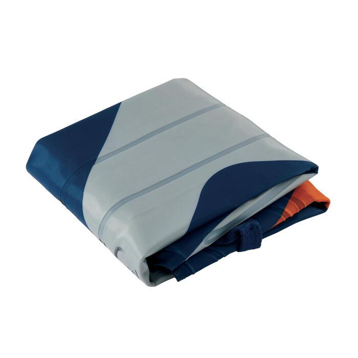 Bodyboard gonflable DISCOVERY imprimé camo bleu gris orange (gabarit >25Kg)