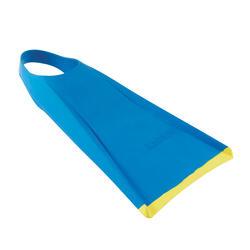Zwemvinnen 100 voor bodyboarden blauw/geel