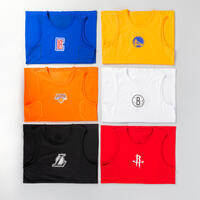 Kids' Slim Fit Basketball Base Layer Top UT500 - Blue/NBA Los Angeles Clippers