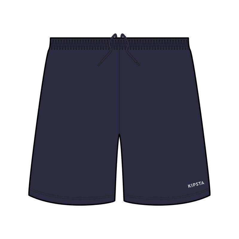 Short de football adulte F100 bleu marine