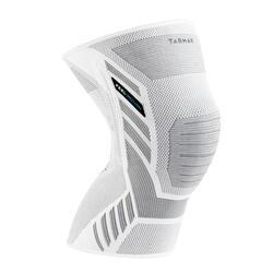 Kniebandage links/rechts voor heren/dames Prevent 500 grijs/wit