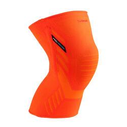 Kniebandage links/rechts voor heren/dames Prevent 500 oranje