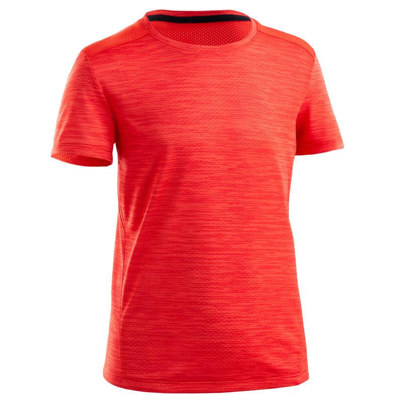 T-shirt enfant synthétique respirant - 500 rouge