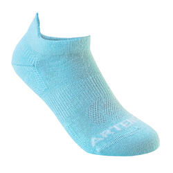 Kids' Low Sports Socks Tri-Pack RS 160 - Blue/White/Coral