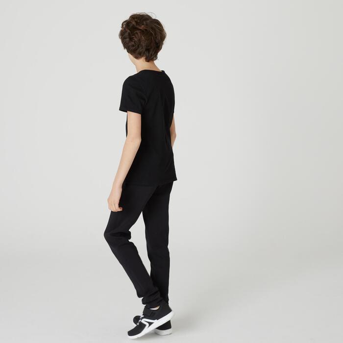 T-shirt enfant coton - Basique noir