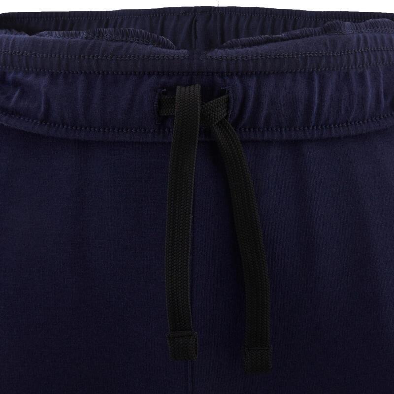 Pantalon de jogging léger slim coton marine enfant