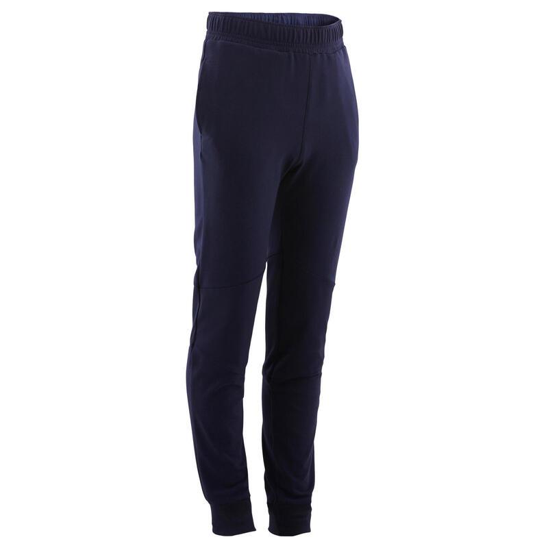 Pantalon de jogging enfant coton léger slim - 500 marine