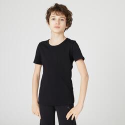 T-Shirt Basic 100 Gym KInder schwarz