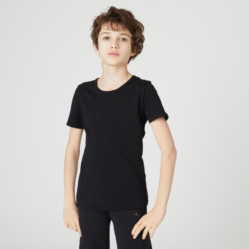 Basic T-shirt voor kinderen zwart