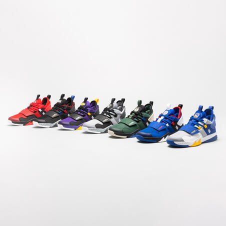 Kids' Basketball Shoes SS500M - White NBA Golden State Warriors
