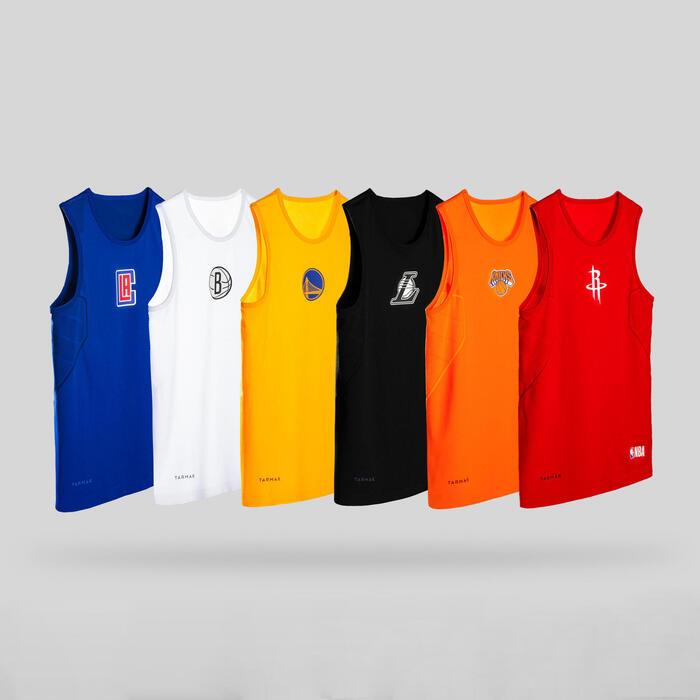 Boys'/Girls' Basketball Base Layer Top UT500 - Orange/NBA New York Knicks