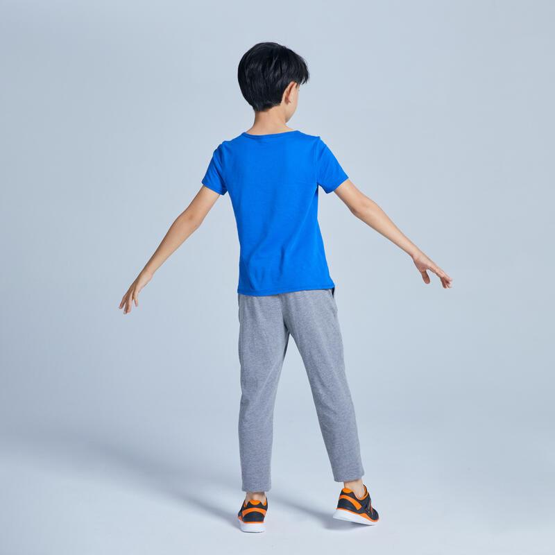 T-shirt manches courtes 100 garçon GYM ENFANT bleu imprimé