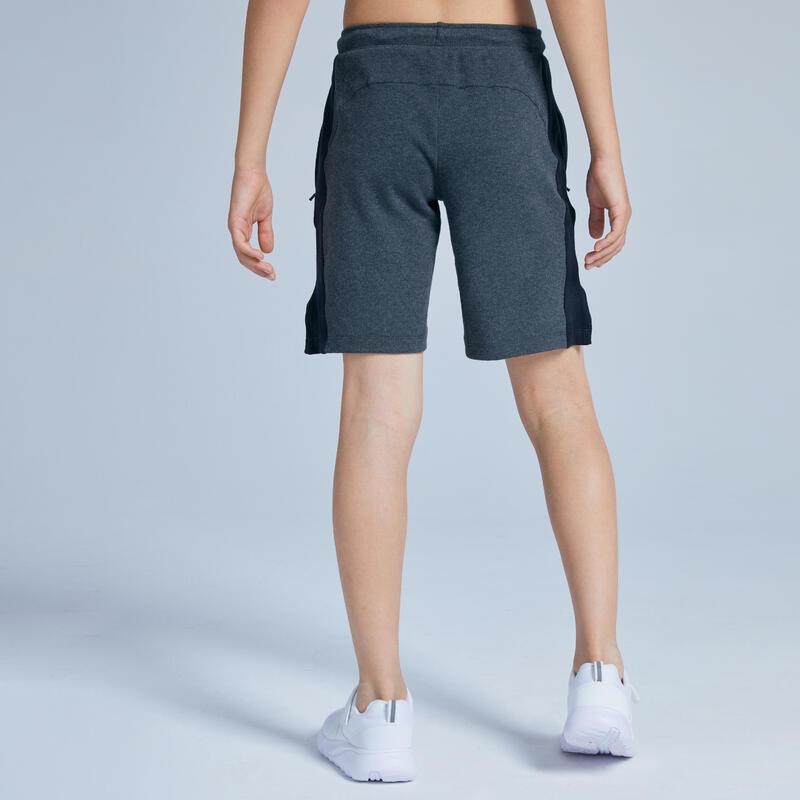 Kids' Breathable Cotton Shorts - Dark Grey