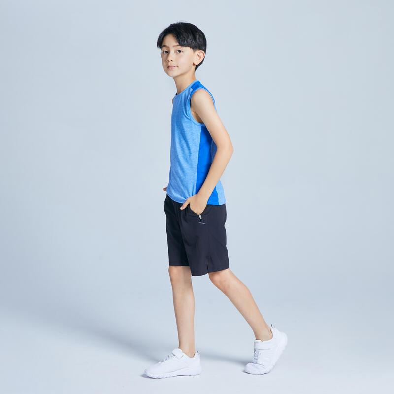 Short coton respirant gris foncé enfant