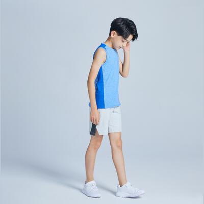ខោខ្លីសម្រាប់ក្មេងប្រុស Gym 500 - ពណ៌ប្រផេះ