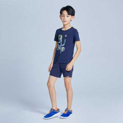 Camiseta básica azul marino estampado NIÑOS
