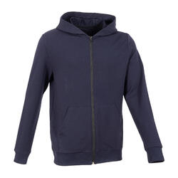 Lightweight Zip-Up Fitness Hoodie - Navy Blue