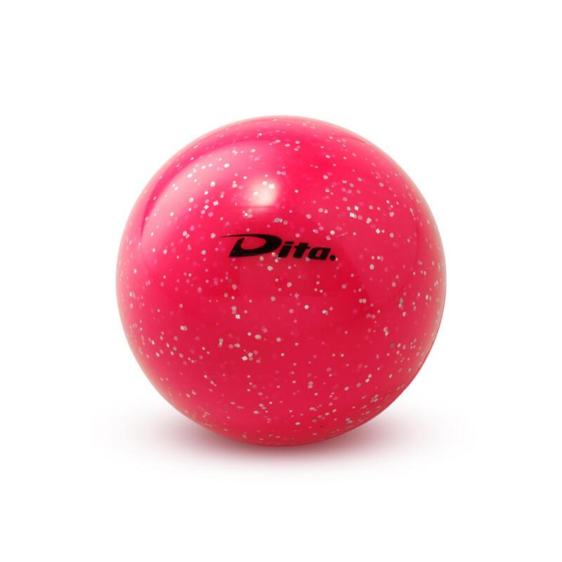 Balle de hockey sur gazon lisse Glitter rose