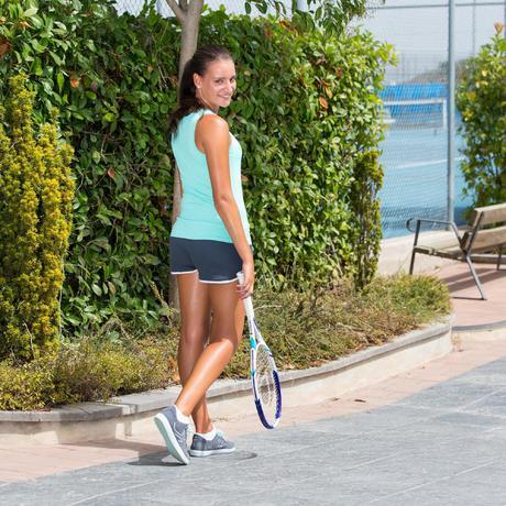 short femme soft gris tennis badminton tennis de table padel squash artengo. Black Bedroom Furniture Sets. Home Design Ideas