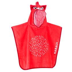 Poncho de Natação Bebé / Criança com Capuz Vermelho Estampado PANDA VERMELHO
